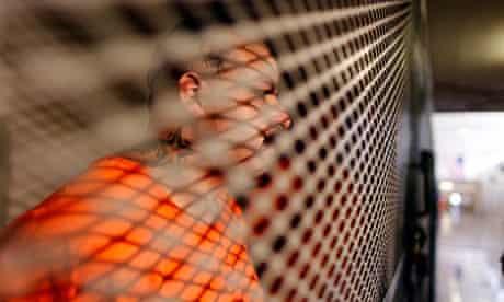 Inmate Bobby Cortez, 29, in state prison in Chino, California