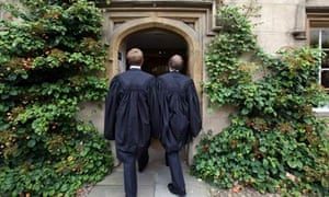 Cambridge freshers in their gowns