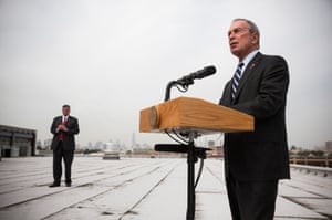 New York City Mayor Michael Bloomberg speaks at a press conference with United States Secretary for Housing and Urban Development Shaun Donovan (not seen), unveiling a Hurricane Sandy Recovery Report in the Greenpoint neighborhood of the Brooklyn Borough of New York City. The report calls for strengthening the region's electrical grid, reinforcing coastline and protecting gas supplies. Photograph: Andrew Burton/Getty Images