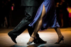 A couple dances in the salon category during the 2013 Tango World Championship in Buenos Aires, Argentina. Photograph: Victor R. Caivano/AP