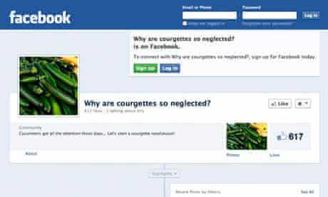 Facebook courgette page