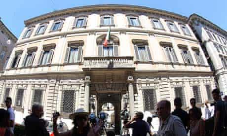Palazzo Grazioli, the Roman residence of Silvio Berlusconi