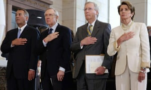 John Boehner, Harry Reid, Mitch McConnell and Nancy Pelosi