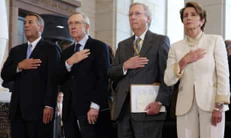 John Boehner, Harry Reid, Mitch McConnell and Nancy Pelosi