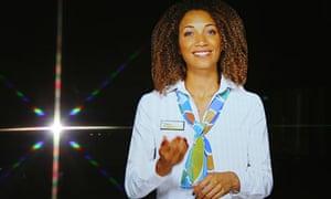 Shanice the hologram receptionist