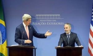 Secretary of State John Kerry meeting Brazil's Antonio Patriota, 2013