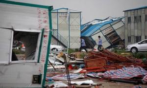 Storm damage in Guangzhou, Guangdong