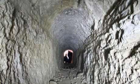Hadrian's Villa tunnel, Tivoli, Italy