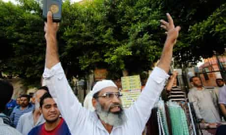 A supporter of the Muslim Brotherhood