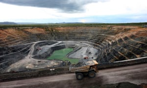 A haul truck transports uranium ore in Australia's Northern Territory.