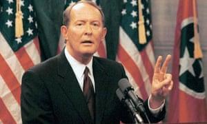Tennessee Republican politician Lamar Alezander, in 1999