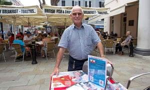 Joe Brugada selling his CD Stand Firm.