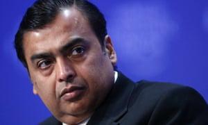 Mukesh D. Ambani, Chairman of Reliance Industries, India.