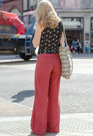 Wide leg pants in Oxford Circus