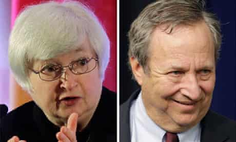 Janet Yellen and Larry Summers, contenders for the Fed chairmanship