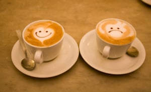 Cups of cappuccino