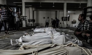 Bodies after suspected chemical weapons attack in Damascus, Syria 21/8/13
