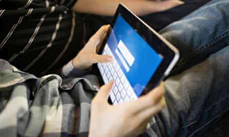 Children using digital tablet, Osijek, Croatia, Europe