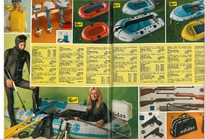 Sport equipment in the 1973 Argos catalogue