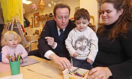 David Cameron at a nursery in London