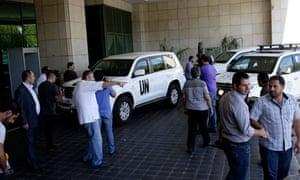 The UN high representative for disarmament affairs arrives in Damascus, Syria