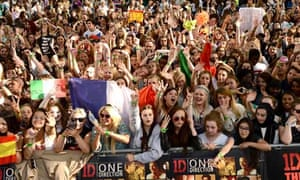 Fans besiege the premiere of This Is Us in Leicester Square, London last week.
