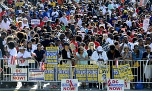The crowd in Washington DC for the march on Washington