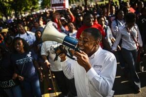 washington rally: Students of Howard University