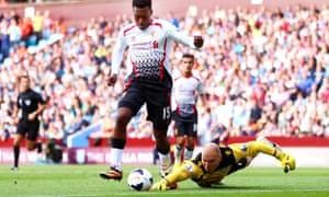 利物浦的丹尼尔斯图里奇击败了阿斯顿维拉的布拉德古赞
