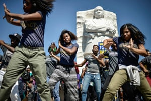 Weekend in pictures: Washington, USA: Dancers perform at the Martin Luther King Jr. Memorial dur