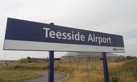 Teesside Airport station.