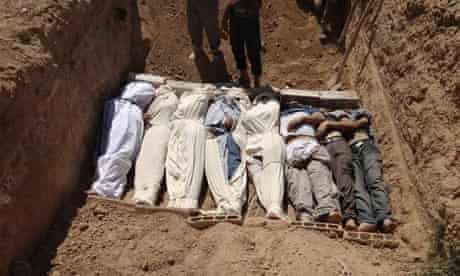 Bodies  buried in Damascus