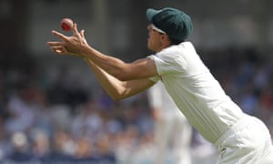 Australia's Mitchell Starc catches out England's Matt Prior during the fifth day of the fifth Ashes Test.