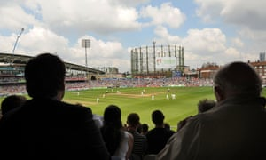 Spectators watch during day five of the Fifth Ashes Test between England and Australia at the Oval.