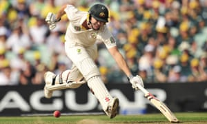 Australia's James Faulkner makes his ground during play on the fifth day of the fifth Ashes Test against England.