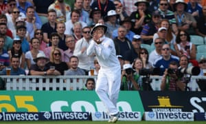Graeme Swann of England takes the catch to dismiss Steve Smith of Australia during day five of the fifth Ashes Test at the Oval.