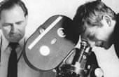 Gilbert Taylor, left, with Roman Polanski in 1965