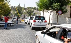 UN inspectors in Damascus
