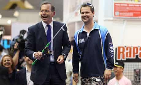 Tony Abbott fishing