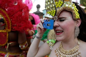 Notting Hill Carnival: A reveller takes pictures