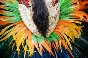 Notting Hill Carnival: A feathered costume