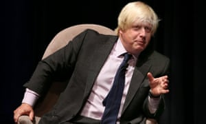 Boris Johnson at the Melbourne Writers' Festival, in 23 August.