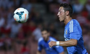 Mesut Ozil in action for Real Madrid against Granada on Monday night.
