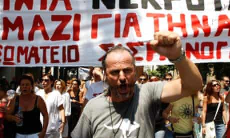 State Doctors and Health Workers Protest in Athens