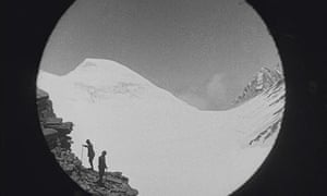 Still from The Epic of Everest, which charts Mallory and Irvine's doomed 1924 expedition