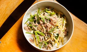 Angela Hartnett's yellow bean, fennel and tuna salad.