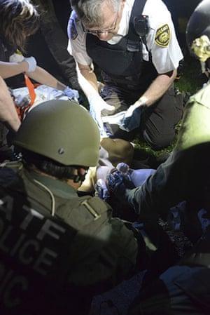 Boston Marathon pics: Dzhokhar Tsarnaev is restrained and given first aid.