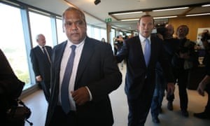 The Leader of the Opposition Tony Abbott with Noel Pearson in Sydney to sign the Jawun Empowered Communities compact this afternoon Wednesday 28th August 2013