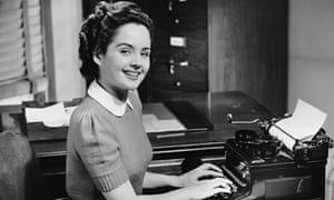 A secretary photographed in the 1950s