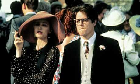Hugh Grant with Kristin Scott Thomas in Four Weddings and a Funeral